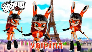 VOLPINA Rena Rouge Copy Cat Miraculous Ladybug & Cat Noir Villain Custom Doll Tutorial