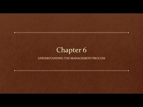 GBUS 5: Chapter 6-Understanding the Management Process