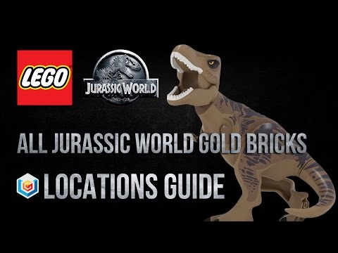 LEGO Jurassic World All Jurassic World Gold Bricks Locations