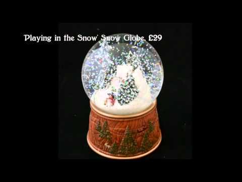 German Musical Snow Globes from Barretts - Playing in the Snow