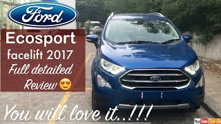 New Ford Ecosport 2017 Facelift Detailed Review | First Look and Features
