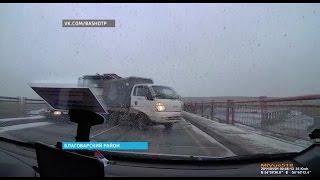 Появилось видео массовой аварии в Туймазах, где столкнулись 5 машин