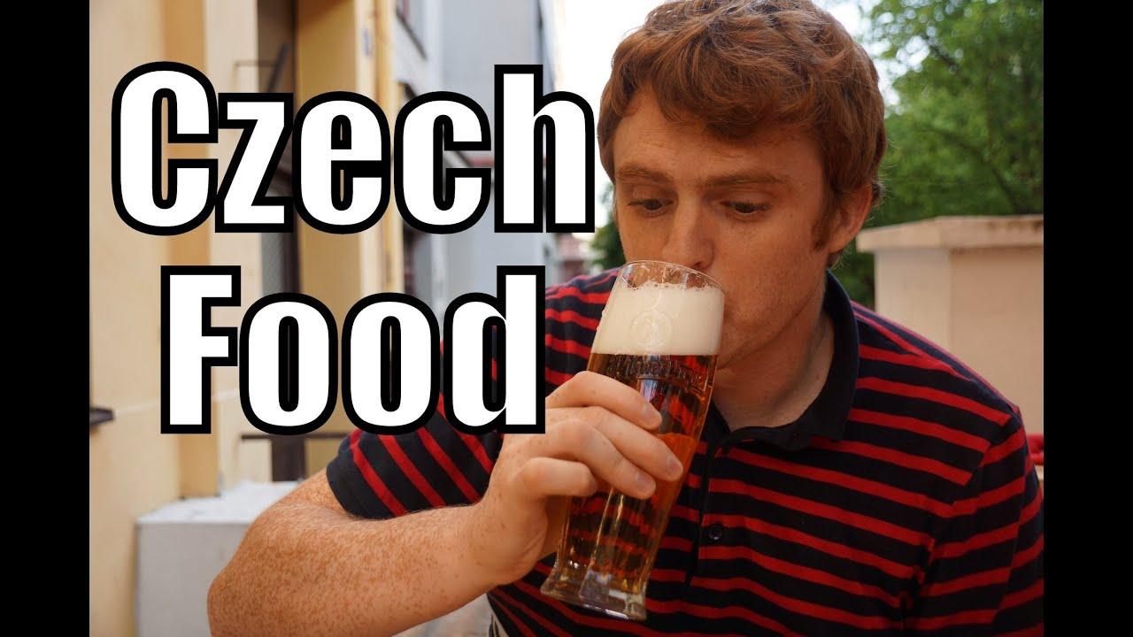 EATING CZECH FOOD - Goulash Fried Cheese & Pilsner Beer in Prague - YouTube