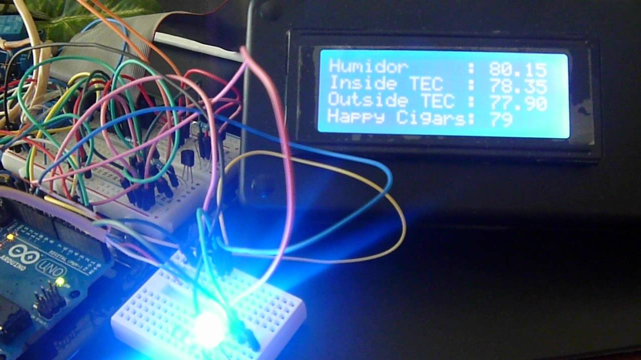Humidor Thermostat Heating Amp Cooling By Arduino Youtube