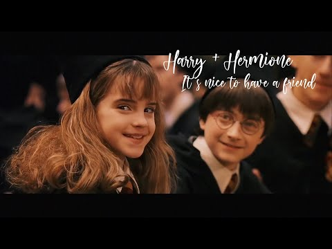 """Harry+Hermione """"It's Nice To Have A Friend"""" Music Video (Harry Potter)"""