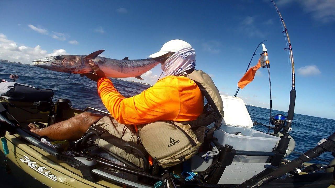 Offshore kayak fishing live bait kingfish dania beach for Offshore kayak fishing
