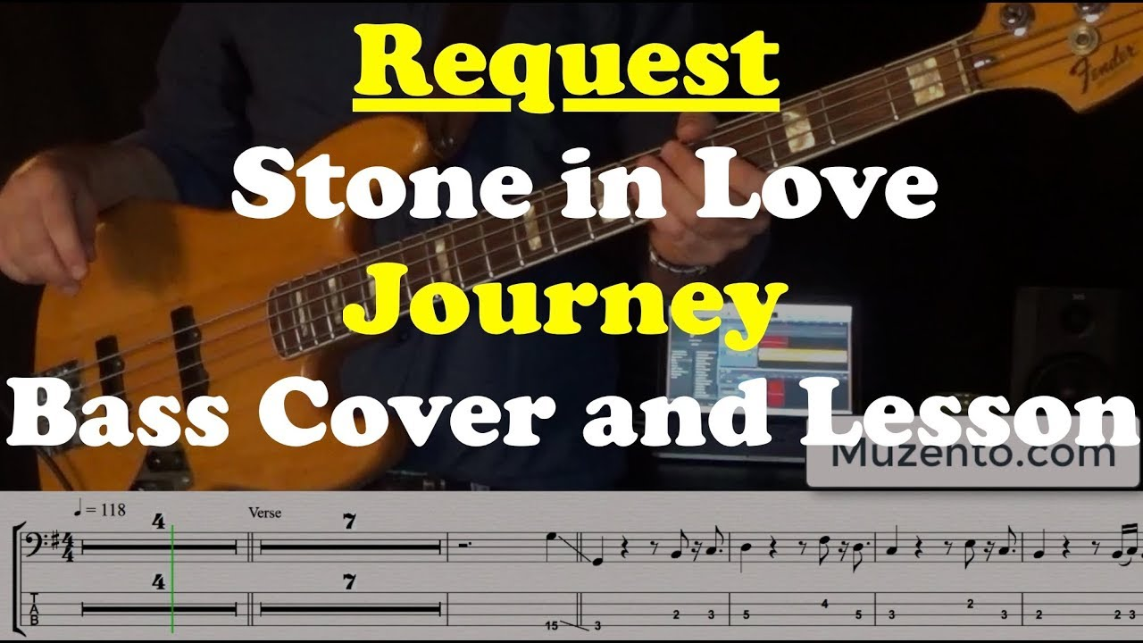 Stone in Love Bass Cover and Lesson Request