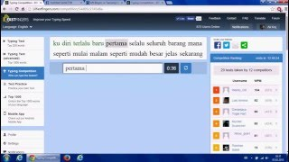 10Fastfingers-Typing Test indonesian Competition