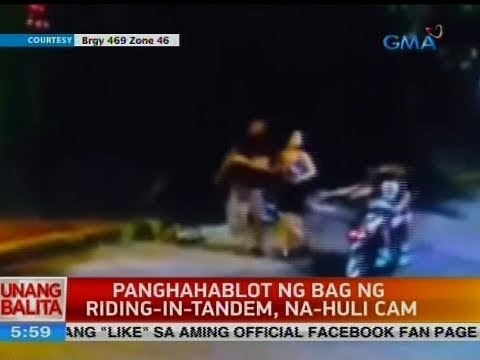 UB: Panghahablot ng bag ng riding-in-tandem, na-huli cam