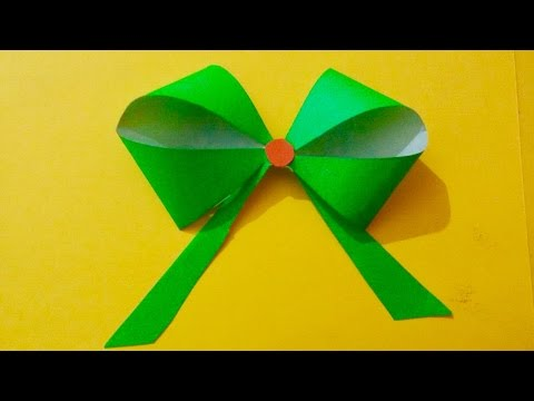 How to make Paper bow for gift box wrapping | Paper flower bow making ideas