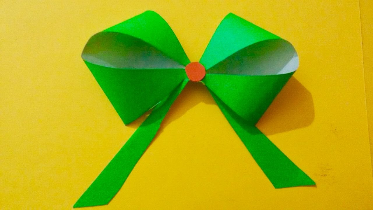 How To Make Paper Bow For Gift Box Wrapping Paper Flower Bow