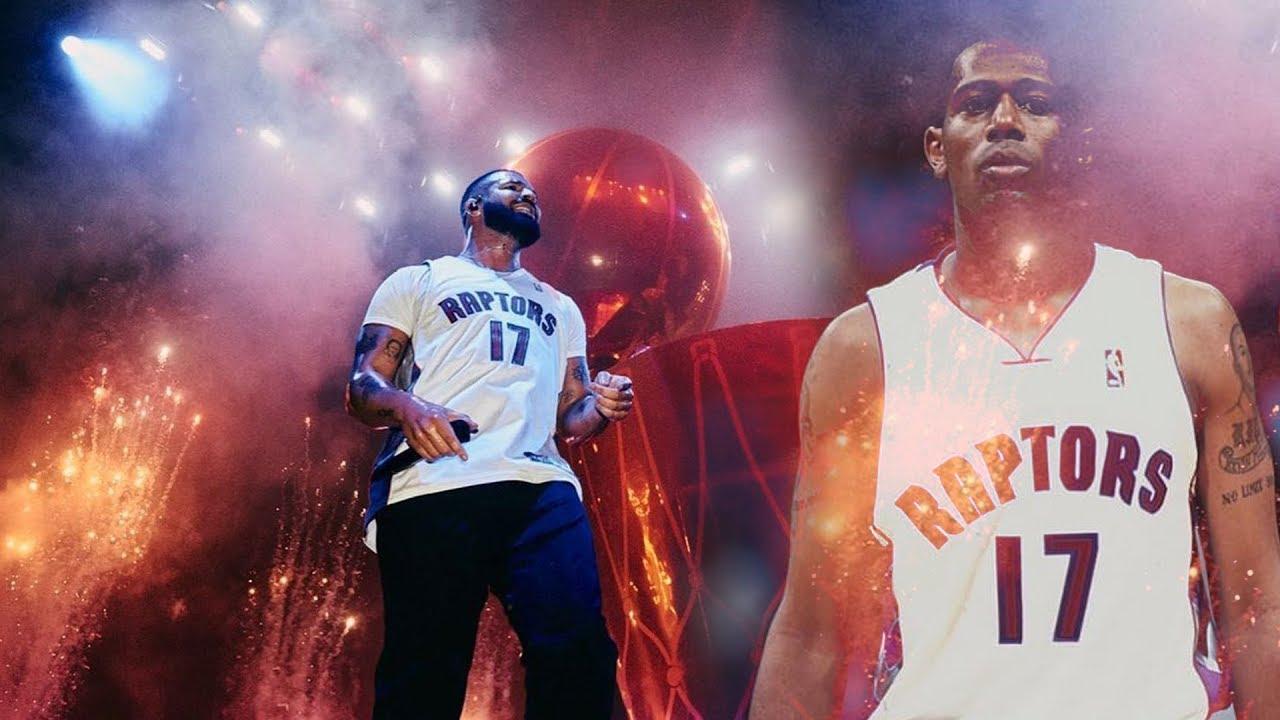 DRAKE ROCKS PERCY MILLER MASTER P NBA RAPTORS JERSEY AT THE OVO FEST