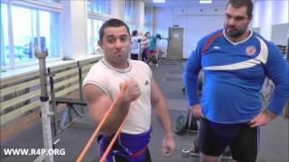 Михаил Габеев: упражнение для закачки травм локтевого сустава (сборная России по тяжелой атлетике)