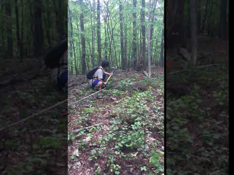 Seismic refraction survey at Panola Mountain 04/2016: Video 1