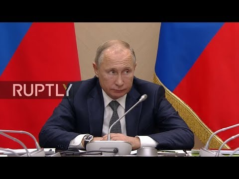 LIVE: Putin chairs meeting with government members in Moscow