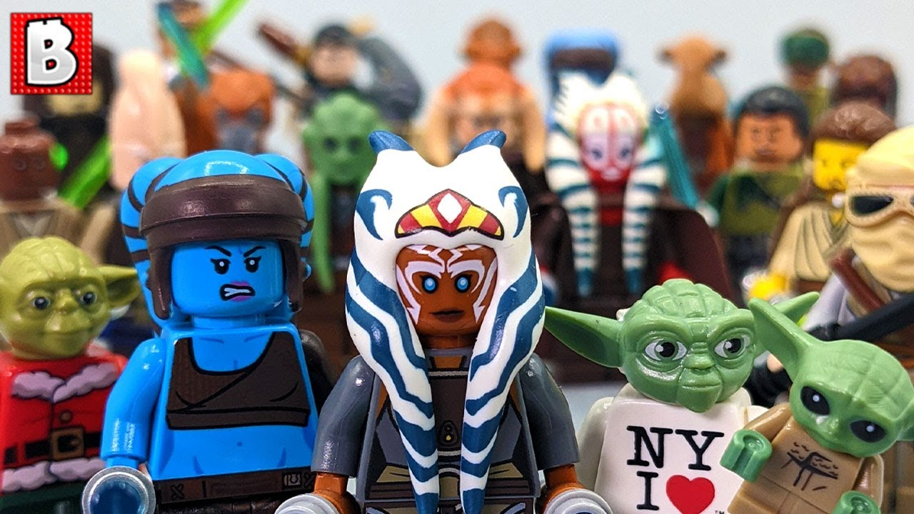 Every Lego Jedi Minifigure Ever!!! 184 Minifigs in total!!!   Update Collection Review