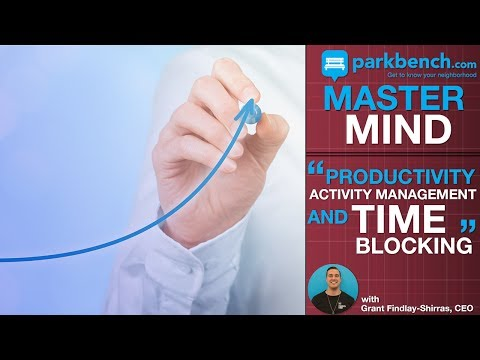 Productivity, Activity Management, Time Blocking