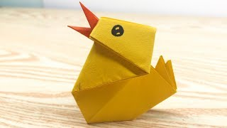 Easy Origami for kids - How to make a paper Baby Chick