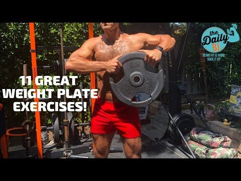 🏋️♂️11 Great Weight Plate Exercises! | BJ Gaddour Men's Health Workout Fitness thumbnail