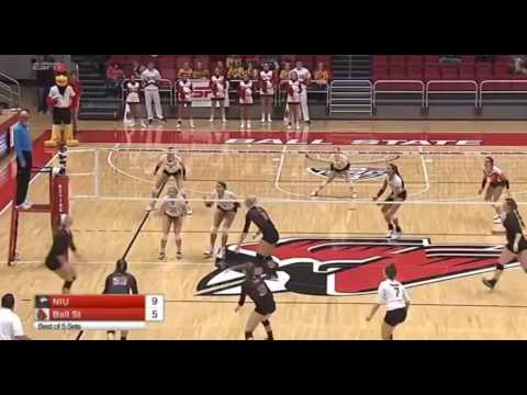 Northern Illinois vs Ball State volleyball 2016