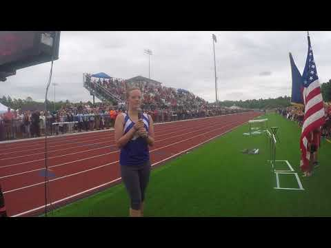 2017-08-12 Maine USATF State Youth Championships National Anthem