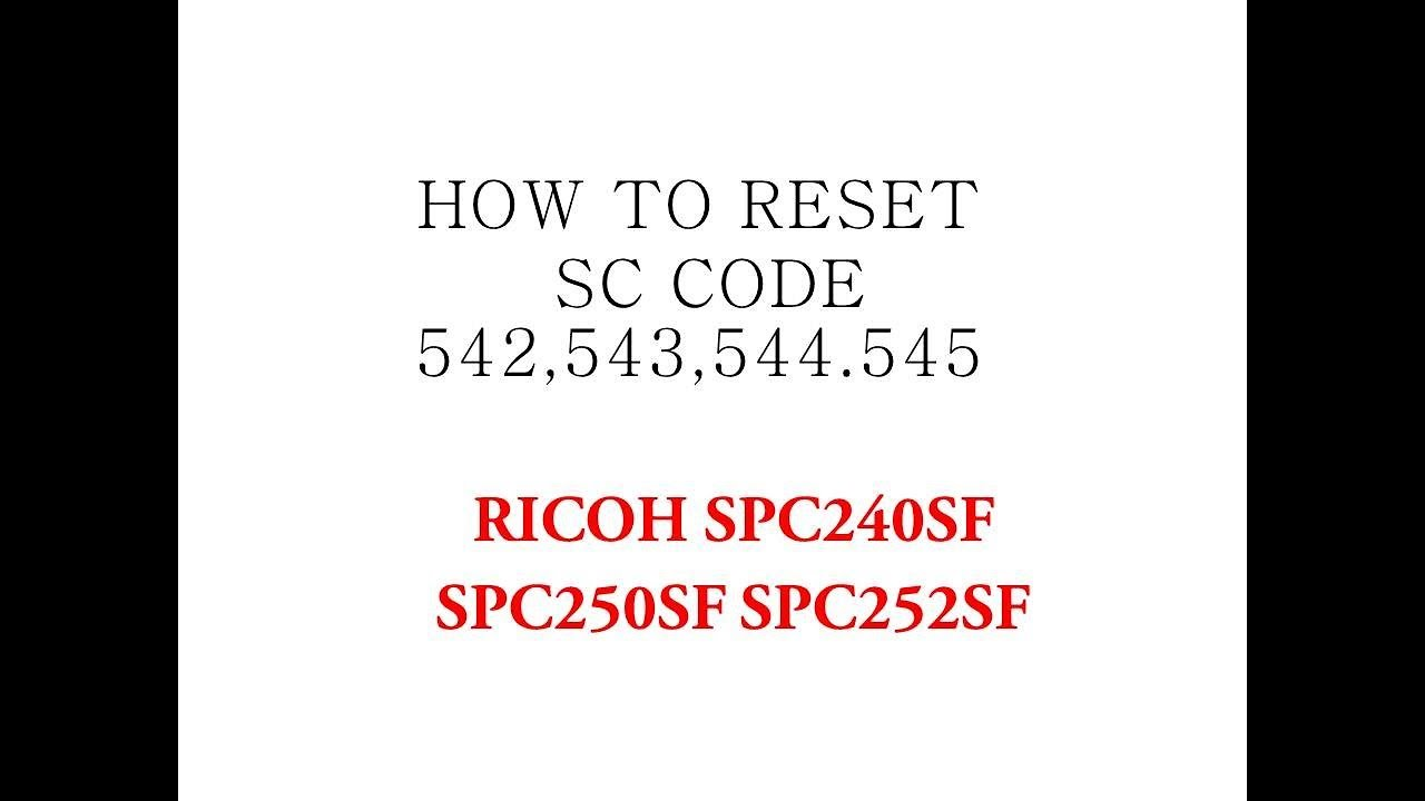 การแก้ปัญหาเครื่องปริ้น RICOH SC542 SC545 SC543