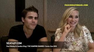 Legendado: Paul Wesley e Candice King comentam sobre Steroline e o fim de The Vampire Diaries!