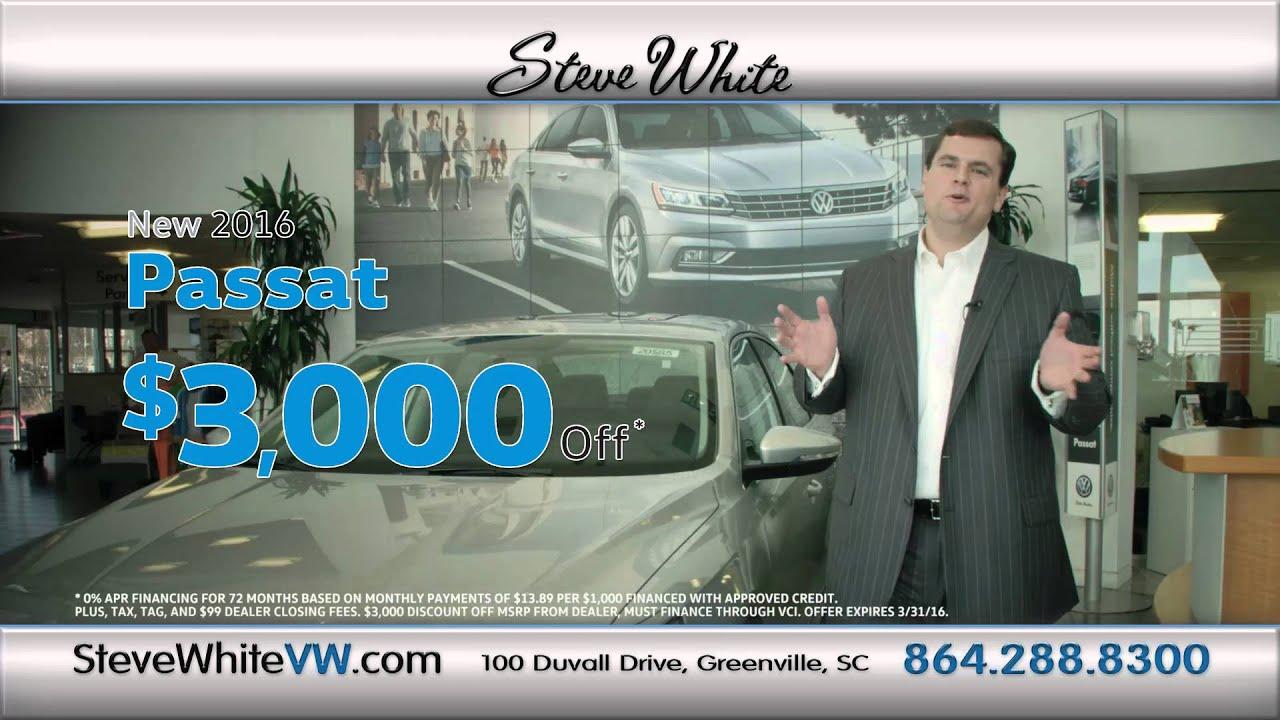 Steve White Vw >> Steve White Volkswagen March Commercial Passat Youtube