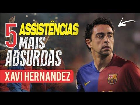 As 5 ASSISTÊNCIAS mais ABSURDAS de XAVI HERNANDEZ