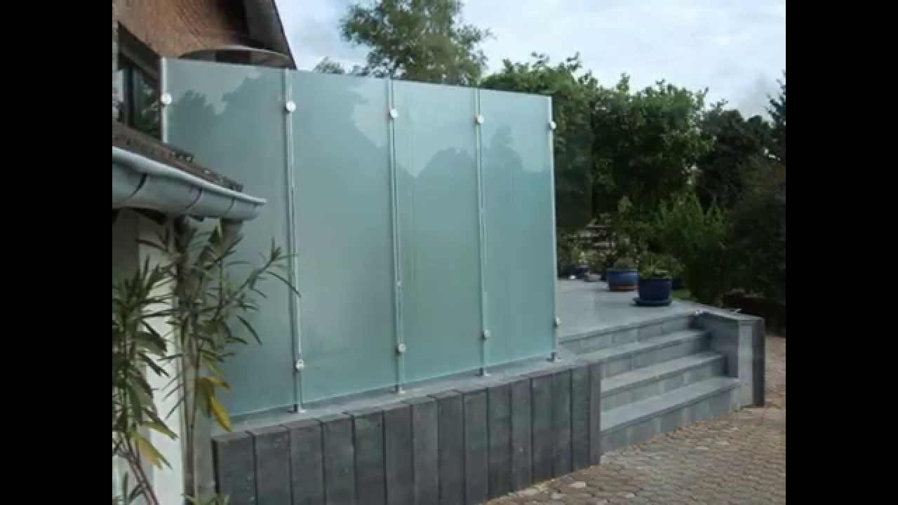 Sichtschutz Aus Glas Und Edelstahl Glas Sichtschutz Wurde In
