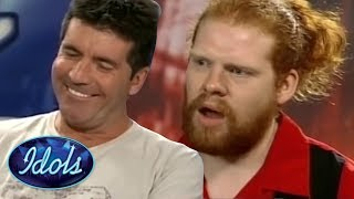 SIMON COWELL CANT STOP LAUGHING! Funny Cringe Queen Audition On ...