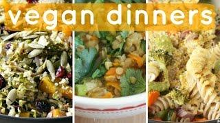 3 Easy Vegan Dinner Recipes // Healthy & Cheap