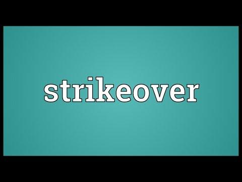 Header of strikeover