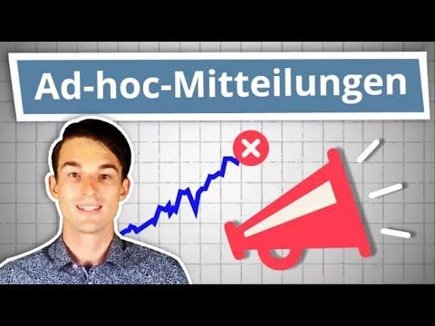Was sind Ad-hoc-Mitteilungen? Ad-hoc und Director's Dealings einfach erklärt! | Finanzlexikon