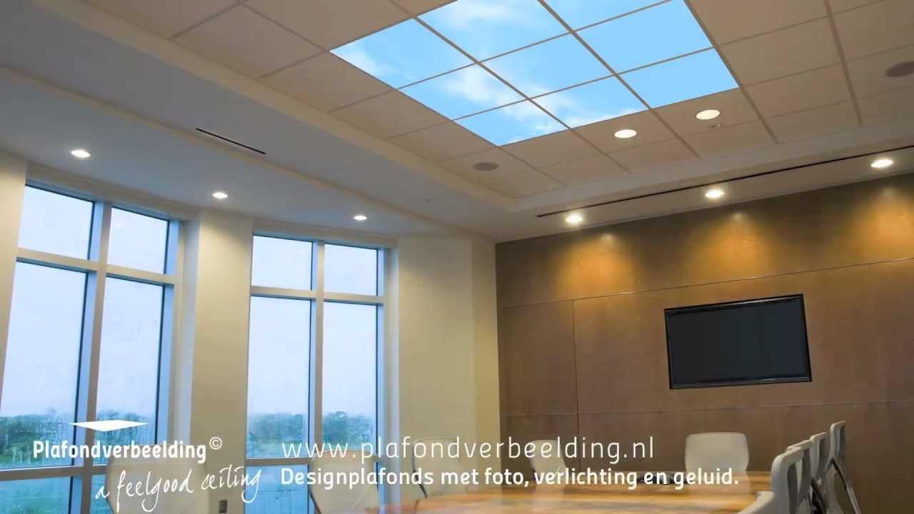 Wolkenplafond met foto\'s van wolkenhemel, verlichting en geluid ...