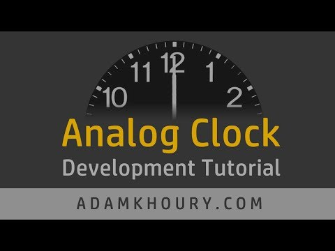 Analog Clock Development Tutorial JavaScript CSS thumbnail