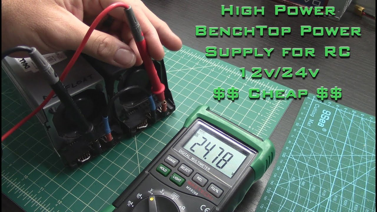 Converting Cheap Dell Z750P-00 750W Server Power Supply for 12v / 24v LiPo  Charger use