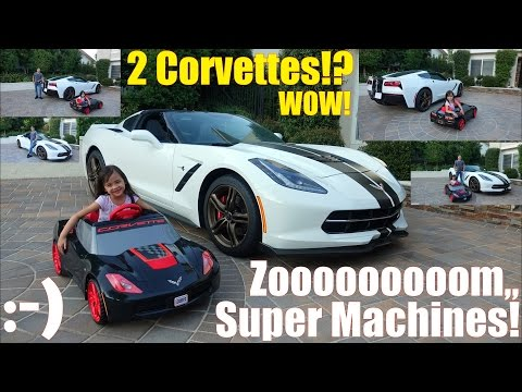 2017 Chevrolet Corvette Stingray C7. Fisher-Price Power Wheels Ride-On Car Drive By Maya