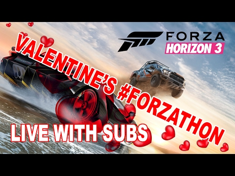 Valentine's Day #FORZAthon - LIVE!!! - helping subs with achievements