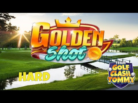 Golf Clash tips, GOLDEN SHOT! Difficult level HARD *4 shots* - ROYAL OPEN!