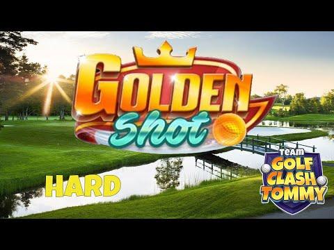 Golf Clash tips, GOLDEN SHOT! Difficult level HARD *4 shots* - ROYAL OPEN!