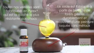 Diffuseur d'huiles essentielles Galea bois foncé