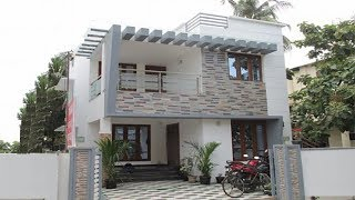 Small Budget Double Floor  House 700 Sft For  7 Lakh | Elevation | Interiors