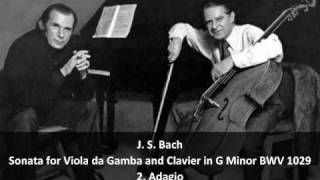 J. S. Bach - Sonata for Viola da Gamba and Clavier in G Minor BWV 1029 - 2. Adagio (2/3)