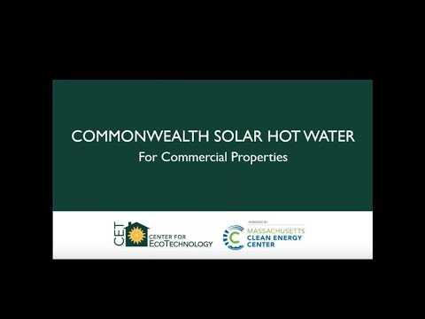 Commercial Scale Solar Hot Water Webinar Recording