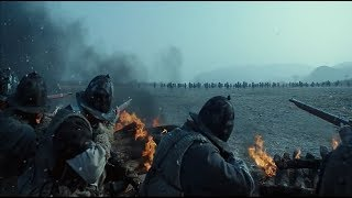 qing manchu cavarly vs joseon korean line of musketeers