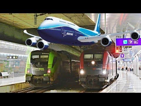 Trains Vienna Airport, 13.07.2017