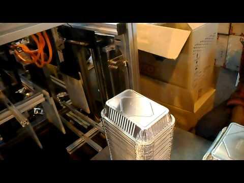 Automatic aluminum foil food container machine