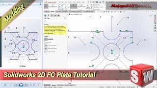 Solidworks Design 2D FC Plate Modeling Tutorial For Beginner