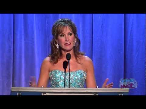 Jodi Benson voice of Ariel accepts Disney Legends award at the 2011 D23 Expo